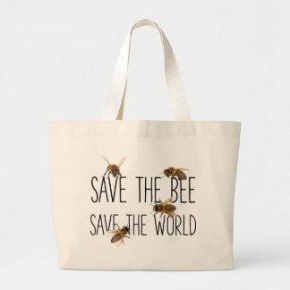 Sparen de Bij! Sparen de Wereld! Leef Ontwerp Jumbo Draagtas