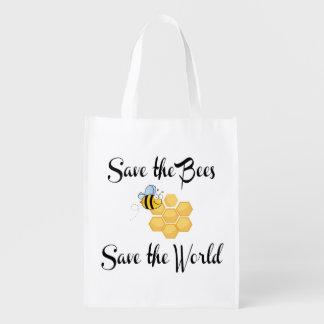 Sparen de Bijen bewaar de Wereld Boodschappentas