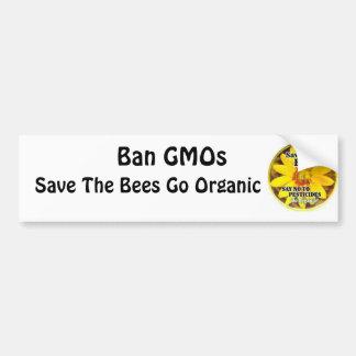 Sparen de Bijen ga Organisch Bumpersticker