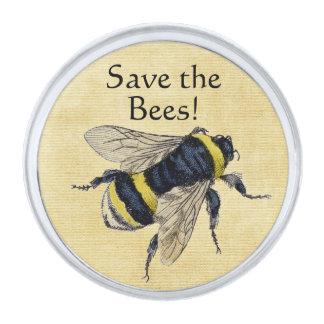 Sparen de Bijen Verzilverde Reverspeld