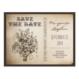 sparen de briefkaarten van de datum vintage briefkaart