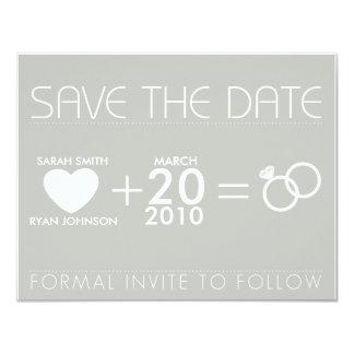 Sparen de Datum 10,8x13,9 Uitnodiging Kaart