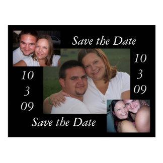 Sparen de Datum Briefkaart
