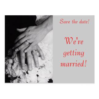 Sparen de Datum--De Handen van het huwelijk Briefkaart