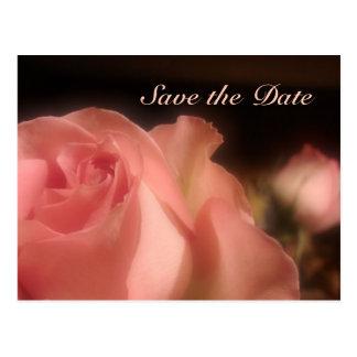 Sparen de Datum - de Perzik nam Briefkaart toe