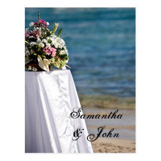 Sparen de Datum - het Huwelijk van het Strand Briefkaart