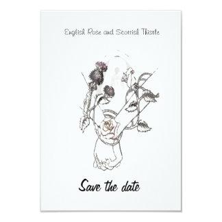 sparen de datum nam het Engels en Schotse Distel Kaart
