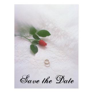 Sparen de Datum - Trouwringen Briefkaart