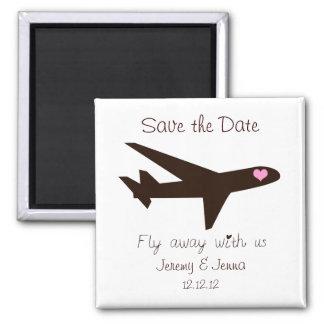 Sparen de Datum: Vliegtuig Vierkante Magneet