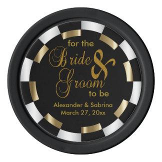 Sparen de Datum voor de Bruid en de Bruidegom Pokerchips