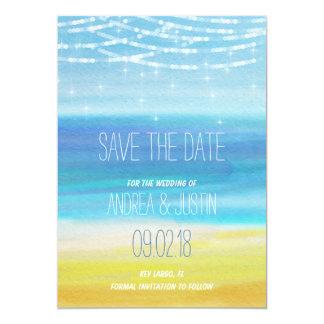 Sparen de Datum voor een huwelijk van het Strand Kaart