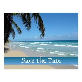 Sparen de Datum voor het Huwelijk van het Strand Briefkaart