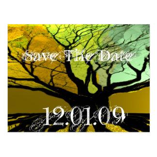 Sparen de Datum - Wortels Briefkaart