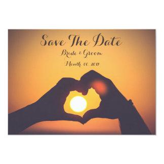 Sparen de datumkaart, de handen van de minnaar, kaart