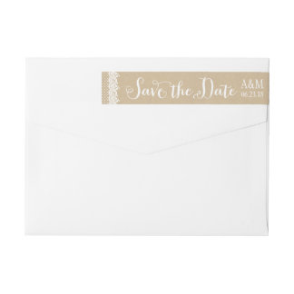 Sparen de Etiketten van de Envelop van de Datum  