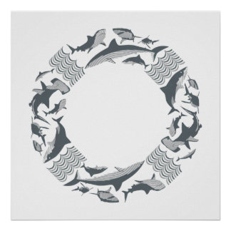Sparen de Haaien Lifesaver Poster