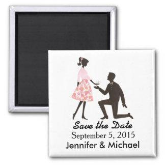 Sparen de het huwelijks vierkante magneet van de