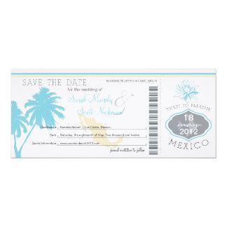 Sparen de Instapkaart van de Datum aan Mexico 10,2x23,5 Uitnodiging Kaart