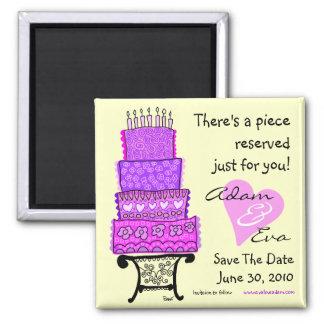 Sparen de Magneet van de Cake van het Huwelijk van