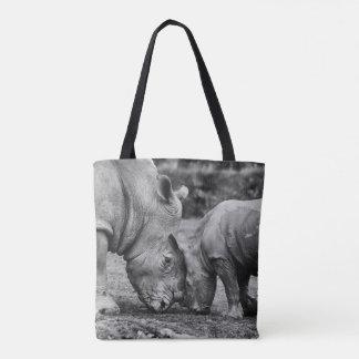 sparen de rinocerossen draagtas