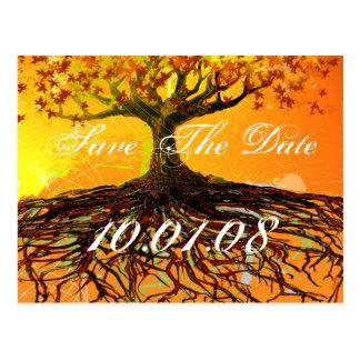 Sparen de Wortels van de Boom van de Datum van Briefkaart