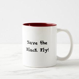 Sparen de Zwarte Vlieg! Tweekleurige Koffiemok