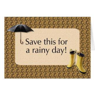 Sparen dit voor een Regenachtige Dag - geef de Briefkaarten 0