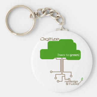 Sparen een Boom - geef digitaal weer Basic Ronde Button Sleutelhanger