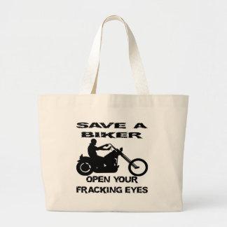 Sparen een Fietser open Uw Ogen Fracking Draagtassen