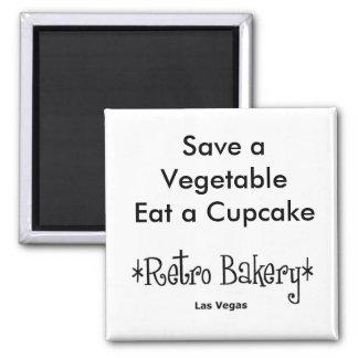 Sparen een Groente eet een Magneet Cupcake