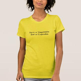 Sparen een Groente eet een T-shirt Cupcake!
