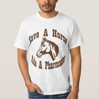 Sparen een Paard, berijd een Apotheker T Shirt