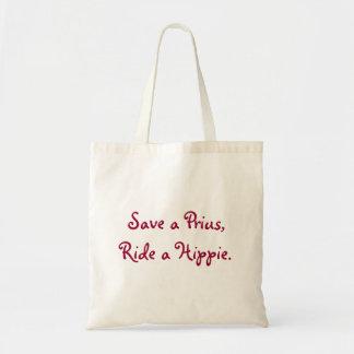 Sparen een Prius, berijd een Hippie Tas
