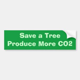 Sparen een TreeProduce Meer Co2 Bumpersticker