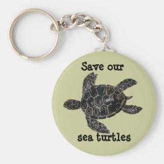 Sparen en bescherm de Schildpadden van het Zee Sleutelhanger