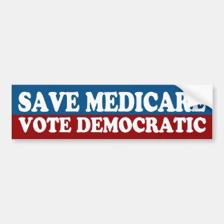 Sparen Gezondheidszorg voor bejaarden, stem over d Bumpersticker