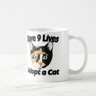 Sparen het 9 leven keur een KAT goed Koffiemok