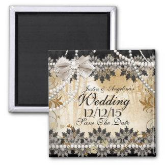 Sparen het Beige van de Room van het Huwelijk van Vierkante Magneet
