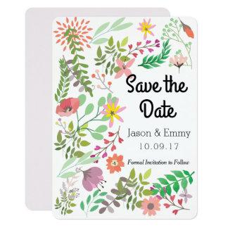 Sparen het BloemenThema van de Datum Kaart