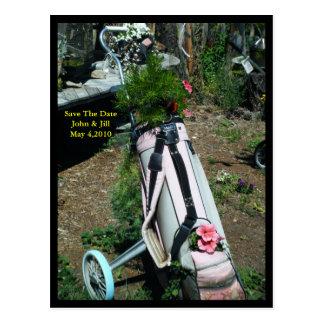 Sparen het Briefkaart van de Bloem van de Kar van