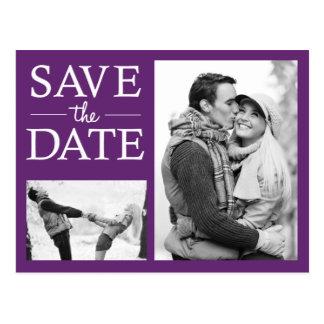 Sparen het Briefkaart van de Foto van de Datum