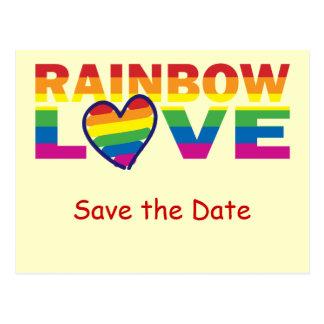 Sparen het de Datum/Huwelijk van de Regenboog/de Briefkaart