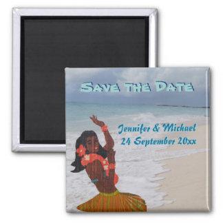 Sparen het Hawaiiaanse Huwelijk van de Datum Vierkante Magneet