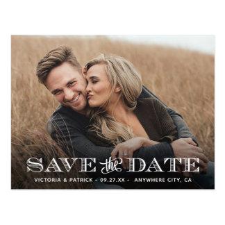 Sparen het Huwelijk van de Foto van de Typografie Briefkaart