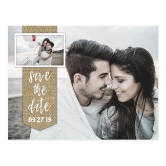 Sparen het Huwelijk van de Jute van de Foto van de Briefkaart