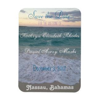 Sparen het Huwelijk van het Strand van de Datum Magneet