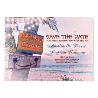 Sparen het Huwelijk van het Strand van het Koord 11,4x15,9 Uitnodiging Kaart