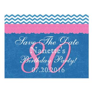Sparen het Kant van de Verjaardag van de Datum Briefkaart