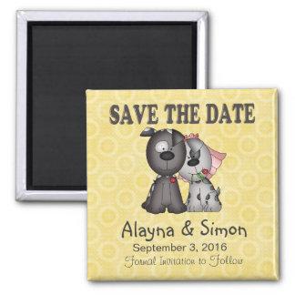 Sparen het Puppy van de Datum Vierkante Magneet