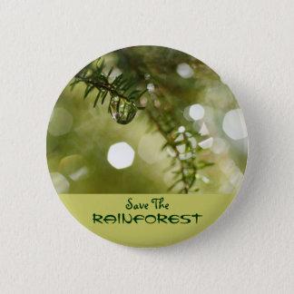 Sparen het Regenwoud Ronde Button 5,7 Cm